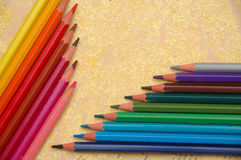 Pencils. A pack of colour pencils Stock Photos