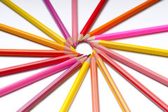 Pencils. A pack of colour pencils Stock Images