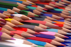Pencils. Multi pencils all colours Stock Images