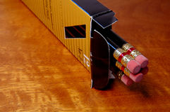 Pencils. Box of pencils royalty free stock photography