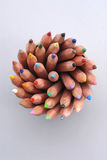 Pencils. Color pencils like a flower Royalty Free Stock Image