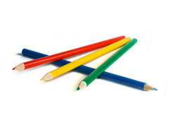 Pencils. Colored pencils against a white background color Stock Photo