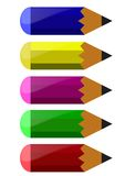 Pencils. Illustration of small colorful pencils against white vector illustration