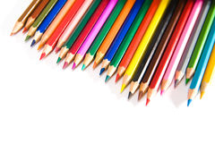 Pencils. Set of pencils on a white background stock images