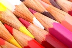 Pencils. Color Pencils diagonal extreme closeup Stock Photo