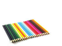 Pencils. Colour pencils isolated on a white background Stock Images