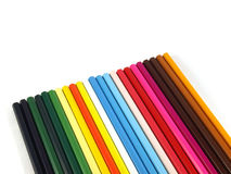 Pencils. Colour pencils isolated on a white background Royalty Free Stock Images