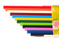 Pencils. The box with colored pencils Royalty Free Stock Images