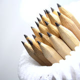 Pencils. Close-up shot of a bunch of wood pencils royalty free stock photo