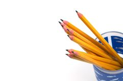 Pencils. On white Stock Images