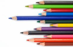 Pencils. Colorful pencils on white stock photography