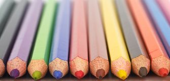 Pencils. Colorful pencils, shallow dof Stock Photo