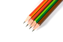 Pencils. Four pencils on the white background Stock Images