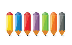 Pencils. Color pencils. Illustration for print and for web vector illustration