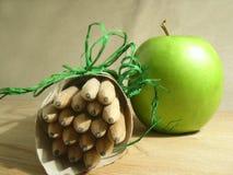 Pencils. & fruit Stock Photo