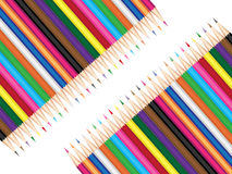 Pencils. Colored crayons set as vector illustration Stock Image
