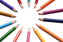 Pencils. Colorful pencils forming a circle Stock Photography