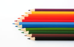 Pencils. Colourful pencils on white background Royalty Free Stock Photography