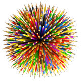 Pencils Abstract Background Stock Images