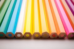 Pencils all colors Stock Image