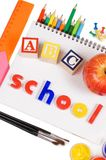 Pencils and apple - concept school Royalty Free Stock Photography