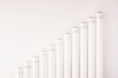 Pencils arrange as a rising graph, or abstract steps and stairs , 3d rendered Royalty Free Stock Photography