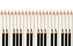 Pencils As Piano Keys Stock Image