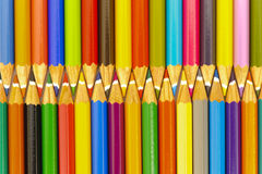 Pencils as zipper Stock Photos