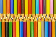 Pencils as zipper Stock Photos