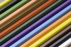 Pencils background. Diagonal pencils color full background Royalty Free Stock Photography