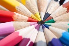 Pencils background Stock Photos