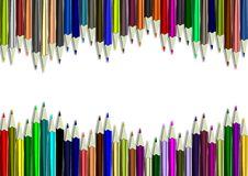 Pencils background Royalty Free Stock Photos