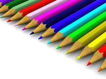 Pencils. background. Stock Photo