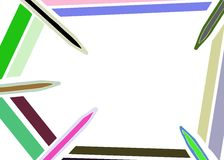 Stylized colorful Pencils background isolated Royalty Free Stock Photography