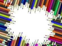 Abstract Colorful Pencils background Stock Images