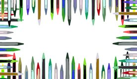 Abstract Colorful Pencils background Royalty Free Stock Photography