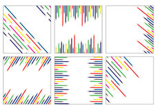 6 Pencils background patterns. Set of Pencils background patterns vector illustration