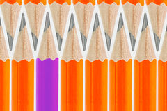 Pencils background. Row of neon colored pencils Stock Image