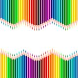 Pencils background in spectrum colors royalty free illustration