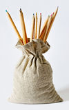 Pencils in a bag. Stock Photography