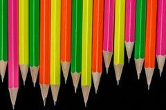 Pencils bakgrund Royaltyfria Bilder