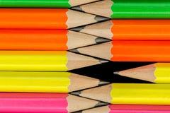 Pencils bakgrund Arkivfoto