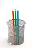 Pencils in basket Stock Image