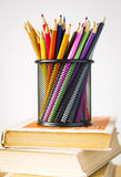 Pencils in basket Stock Photos