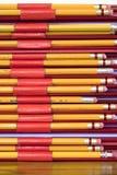 Pencils in binders. Stock Images