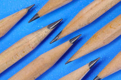 Pencils and Blue Background Stock Image