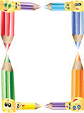 Pencils Border or Frame Royalty Free Stock Images