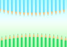 Pencils border - cdr format Royalty Free Stock Photo