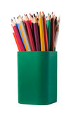 Pencils in a box Stock Image