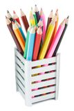 Pencils in a Box Stock Photography